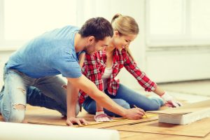 couple plans their home renovation project