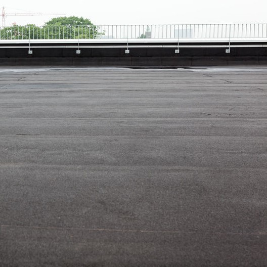 flat black bitumen roof