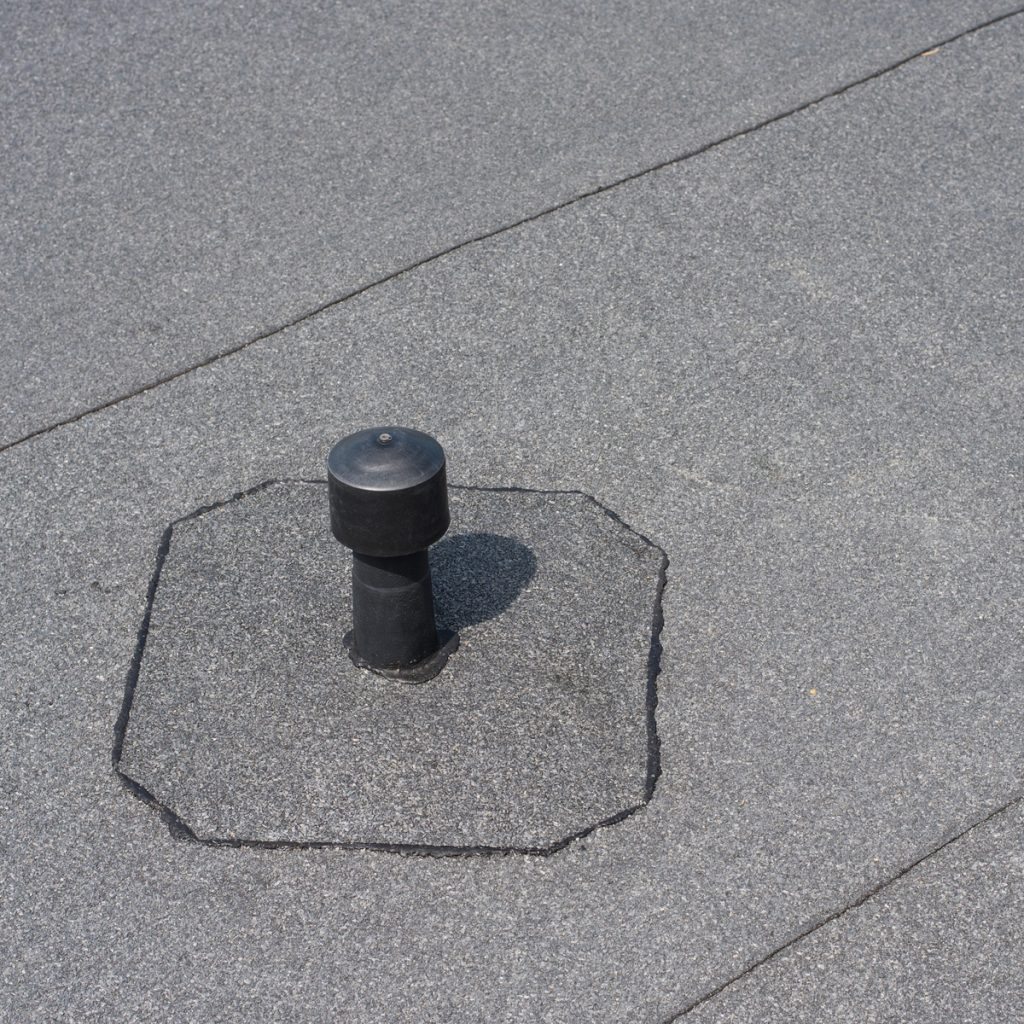 flat roof with ventilation